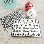 Stickervel kerstmis kerstbal versieren