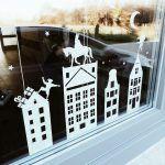 Raamstickers sinterklaas met huisjes