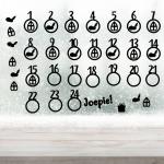 aftelkalender Sinterklaas herbruikbare raamstickers